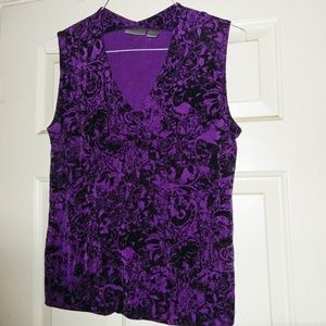 Travelers Chico's Tank - Purple & Black - WOW!
